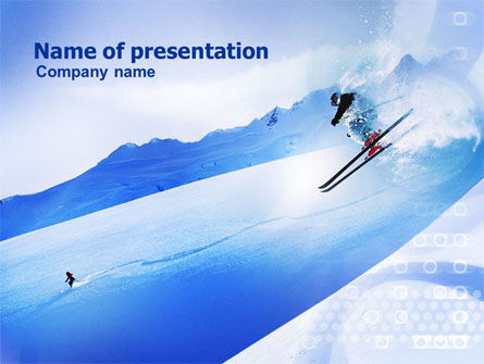 Sports: Templat PowerPoint Bermain Ski Di Alpine #01090