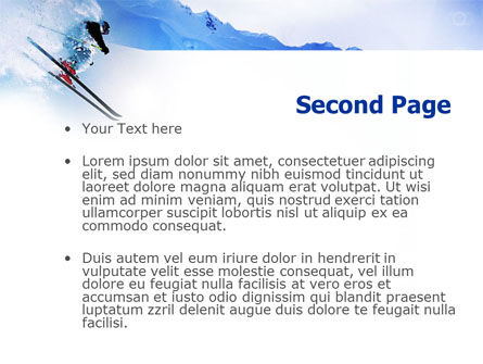 Alpine Skiing PowerPoint Template Slide 2