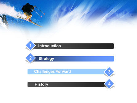 Ski Jump PowerPoint Template, Slide 3, 01091, Sports — PoweredTemplate.com