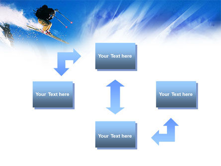 Ski Jump PowerPoint Template, Slide 4, 01091, Sports — PoweredTemplate.com