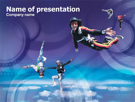 Skydiving Tricks PowerPoint Template, 01092, Sports — PoweredTemplate.com