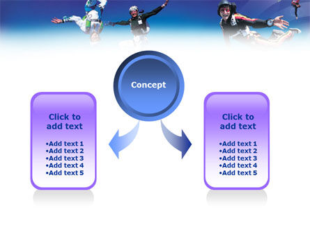 Skydiving Tricks PowerPoint Template, Slide 4, 01092, Sports — PoweredTemplate.com