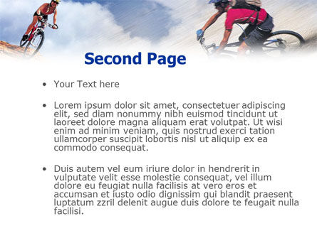 Mountain Biking PowerPoint Template, Slide 2, 01093, Sports — PoweredTemplate.com