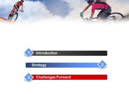 Mountain Biking PowerPoint Template, Slide 3, 01093, Sports — PoweredTemplate.com