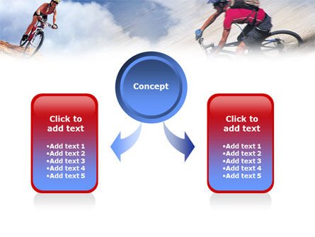 Mountain Biking PowerPoint Template, Slide 4, 01093, Sports — PoweredTemplate.com