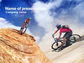 Sports: Mountain Biking PowerPoint Template #01093