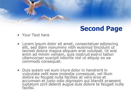 Seagull PowerPoint Template, Slide 2, 01094, Animals and Pets — PoweredTemplate.com