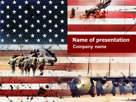 US Military Force PowerPoint Template, 01095, Military — PoweredTemplate.com