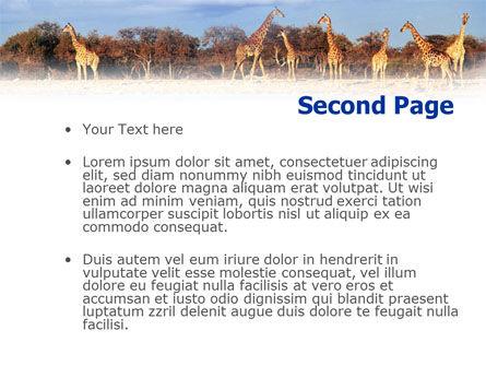 Giraffe PowerPoint Template, Slide 2, 01097, Animals and Pets — PoweredTemplate.com