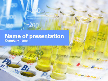 Technology and Science: Chemical Tests PowerPoint Template #01098