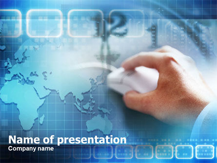 Telecommunication: Online Work PowerPoint Template #01100