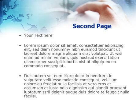 Online Work PowerPoint Template, Slide 2, 01100, Telecommunication — PoweredTemplate.com