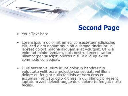 Palm Device PowerPoint Template Slide 2