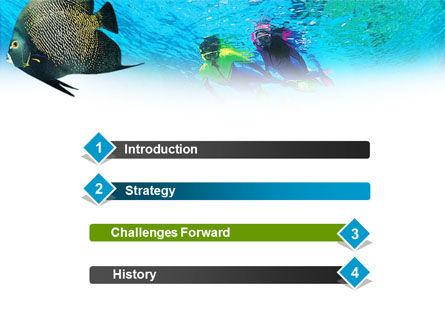 Tourist Diving PowerPoint Template, Slide 3, 01102, Nature & Environment — PoweredTemplate.com