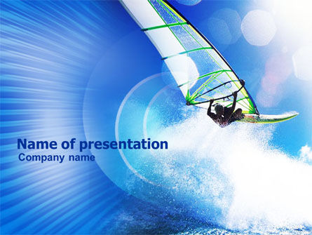 Sports: Windsurfer PowerPoint Template #01103