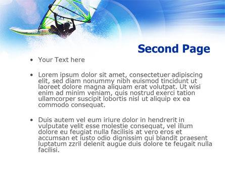 Windsurfer PowerPoint Template, Slide 2, 01103, Sports — PoweredTemplate.com