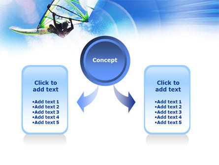 Windsurfer PowerPoint Template, Slide 4, 01103, Sports — PoweredTemplate.com