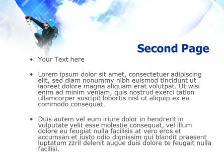 Ice Climbing PowerPoint Template Slide 2