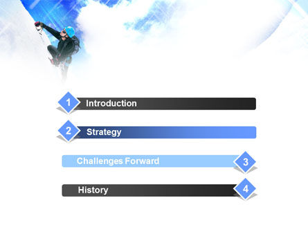 Ice Climbing PowerPoint Template Slide 3