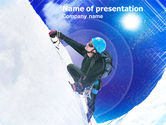 Sports: Ice Climbing PowerPoint Template #01105