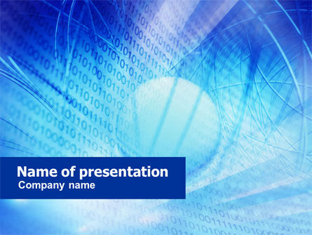 Telecommunication: System Code PowerPoint Template #01106