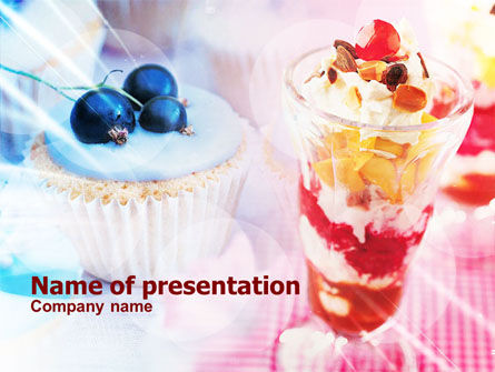 Food & Beverage: Sweets with Fruits PowerPoint Template #01107