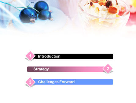 Sweets with Fruits PowerPoint Template, Slide 3, 01107, Food & Beverage — PoweredTemplate.com