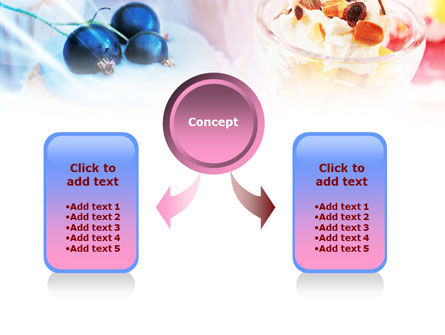 Sweets with Fruits PowerPoint Template, Slide 4, 01107, Food & Beverage — PoweredTemplate.com