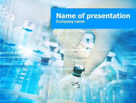 Pharmaceutical Testing PowerPoint Template, 01108, Medical — PoweredTemplate.com