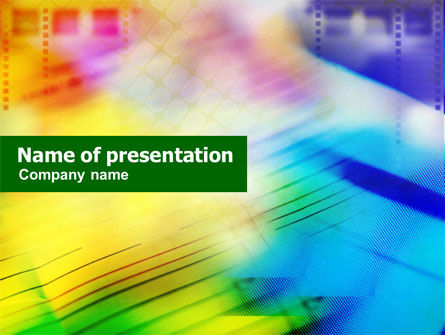 Abstract/Textures: Colorful Lined Theme PowerPoint Template #01109