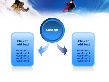 Flying Snowboarder PowerPoint Template, Slide 4, 01110, Sports — PoweredTemplate.com