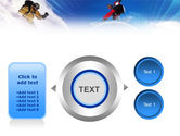 Flying Snowboarder PowerPoint Template#12