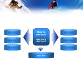 Flying Snowboarder PowerPoint Template#13