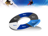 Flying Snowboarder PowerPoint Template#19