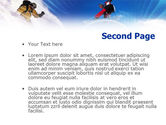 Flying Snowboarder PowerPoint Template#2
