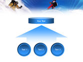 Flying Snowboarder PowerPoint Template#8