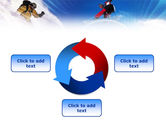 Flying Snowboarder PowerPoint Template#9
