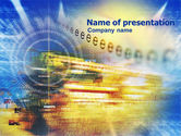 Abstract/Textures: Digital Technology PowerPoint Template #01112