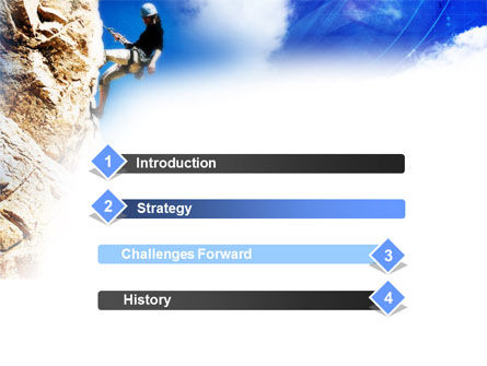 Sport Climbing PowerPoint Template, Slide 3, 01113, Sports — PoweredTemplate.com