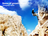 Sports: Sport Climbing PowerPoint Template #01113