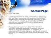 Sport Climbing PowerPoint Template#2