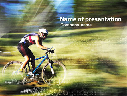 Sports: Cycling PowerPoint Template #01114