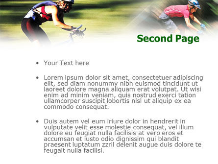 Cycling PowerPoint Template Slide 2