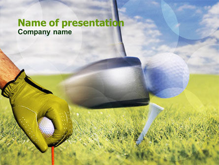 Sports: Templat PowerPoint Pelajaran Golf #01115
