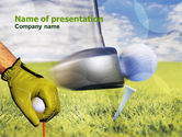 Sports: Golf Lessons PowerPoint Template #01115