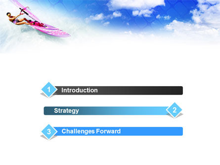 Pink Windsurf PowerPoint Template, Slide 3, 01116, Sports — PoweredTemplate.com