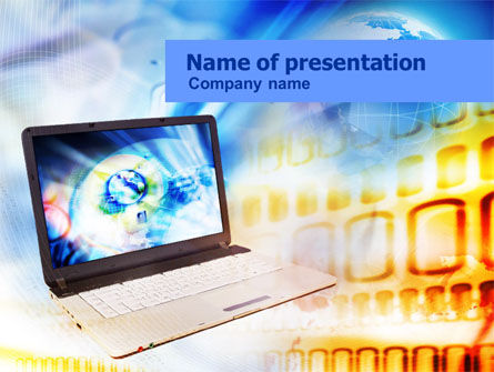 Picture on Laptop Free PowerPoint Template, 01117, Computers — PoweredTemplate.com