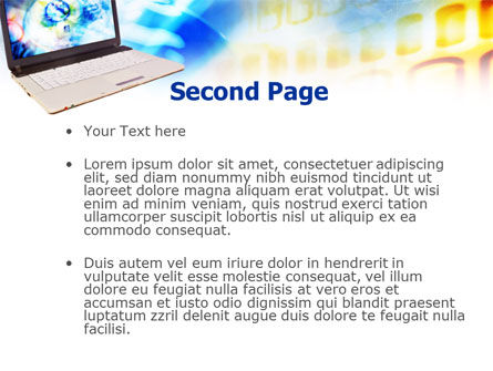 Picture on Laptop Free PowerPoint Template Slide 2