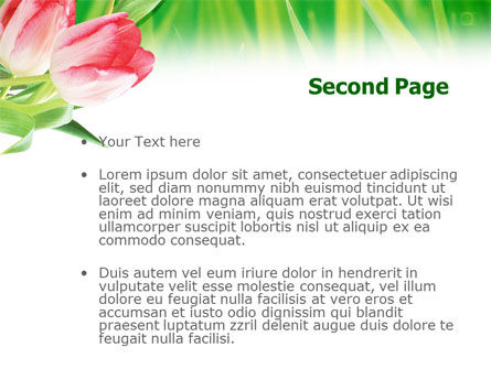 Light Pink Colored Tulips PowerPoint Template Slide 2