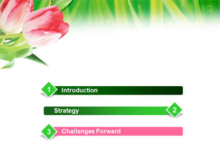 Light Pink Colored Tulips PowerPoint Template Slide 3